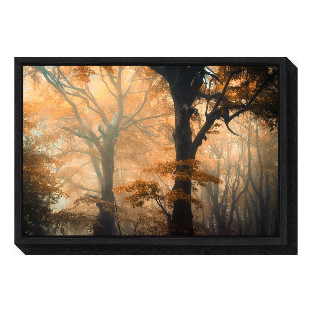 """Reverse and Forward"" by Ildiko Neer Framed Canvas Wall Art"