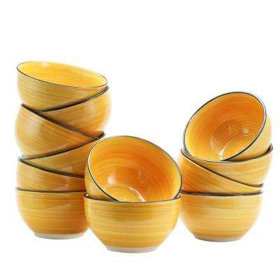Color Vibes Yellow Cereal Bowl (Set of 12)
