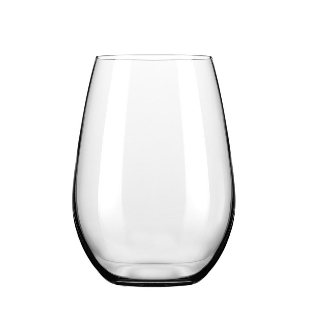 Signature Kentfield 4-Piece Stemless White Wine Glass Set