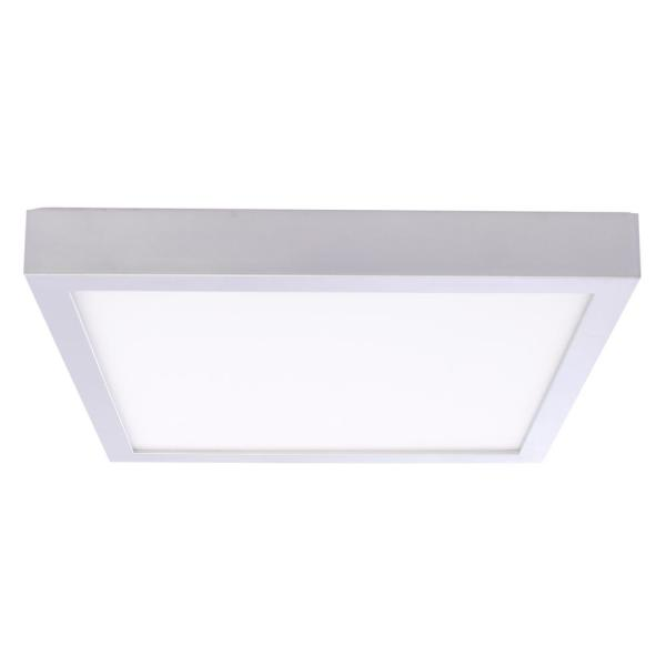 20-Watt Silver Integrated LED 9 in. Ceiling Flush Mount