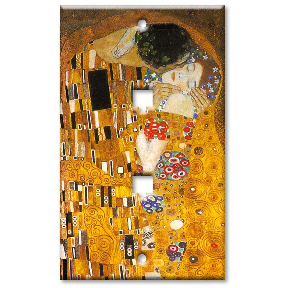 Art Plates Klimt The Kiss 2 Phone Jack Wall Plate