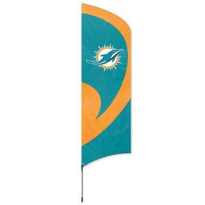 2.5 ft. x 11.5 ft. Miami Dolphins Tall Team Flag