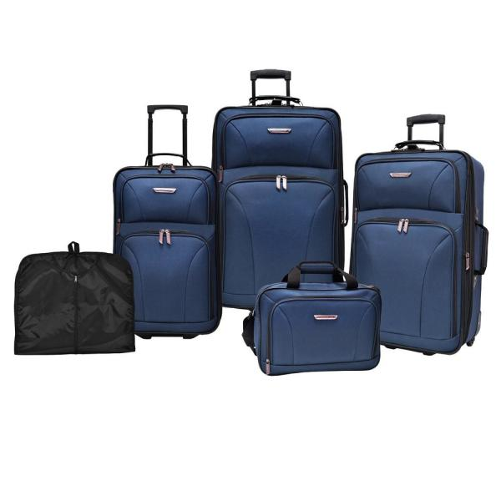 Travelers Choice Versatile 5-Piece Navy Luggage Set