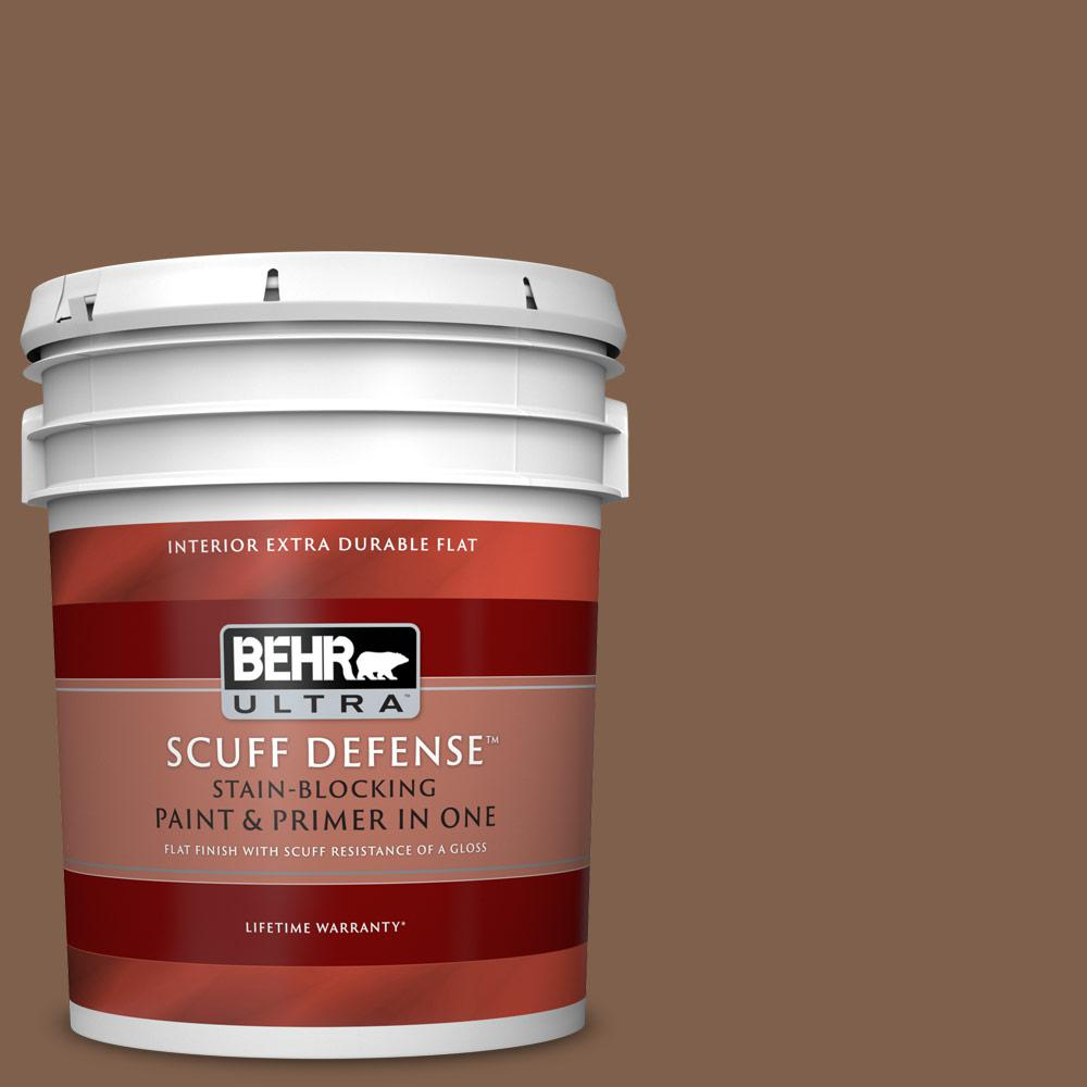Behr Ultra 5 Gal Home Decorators Collection Hdc Sp14 6 Tilled Earth Extra Durable Flat Interior Paint And Primer In One 172305 The Home Depot
