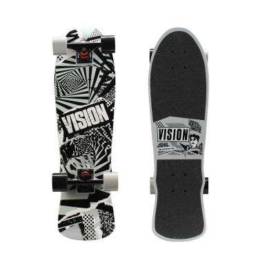 28 in. Mini Cruiser Skateboard in Twisted Graphic