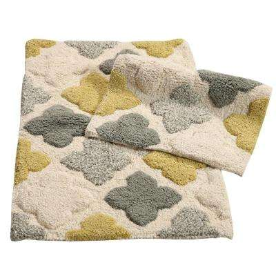 Alloy Moroccan Tiles Willow 21 In X 34 2 Piece Bath Rug