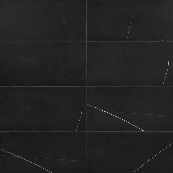 Blackout Nero Marquina 12 in. x 24 in. Honed Marble Floor and Wall Tile (10 sq. ft./Case)
