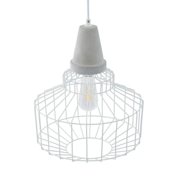 Xinna 1-Light White Cage Pendant (2-Piece Set)
