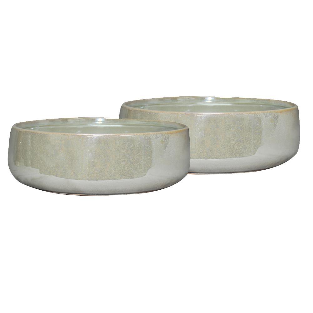 Southern Patio Elora 10 in. Dia Pearl Ceramic Bowl (2-Pack)