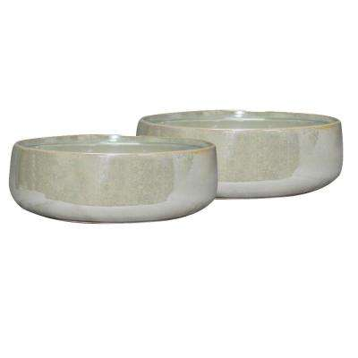 Elora 10 in. Dia Pearl Ceramic Bowl (2-Pack)