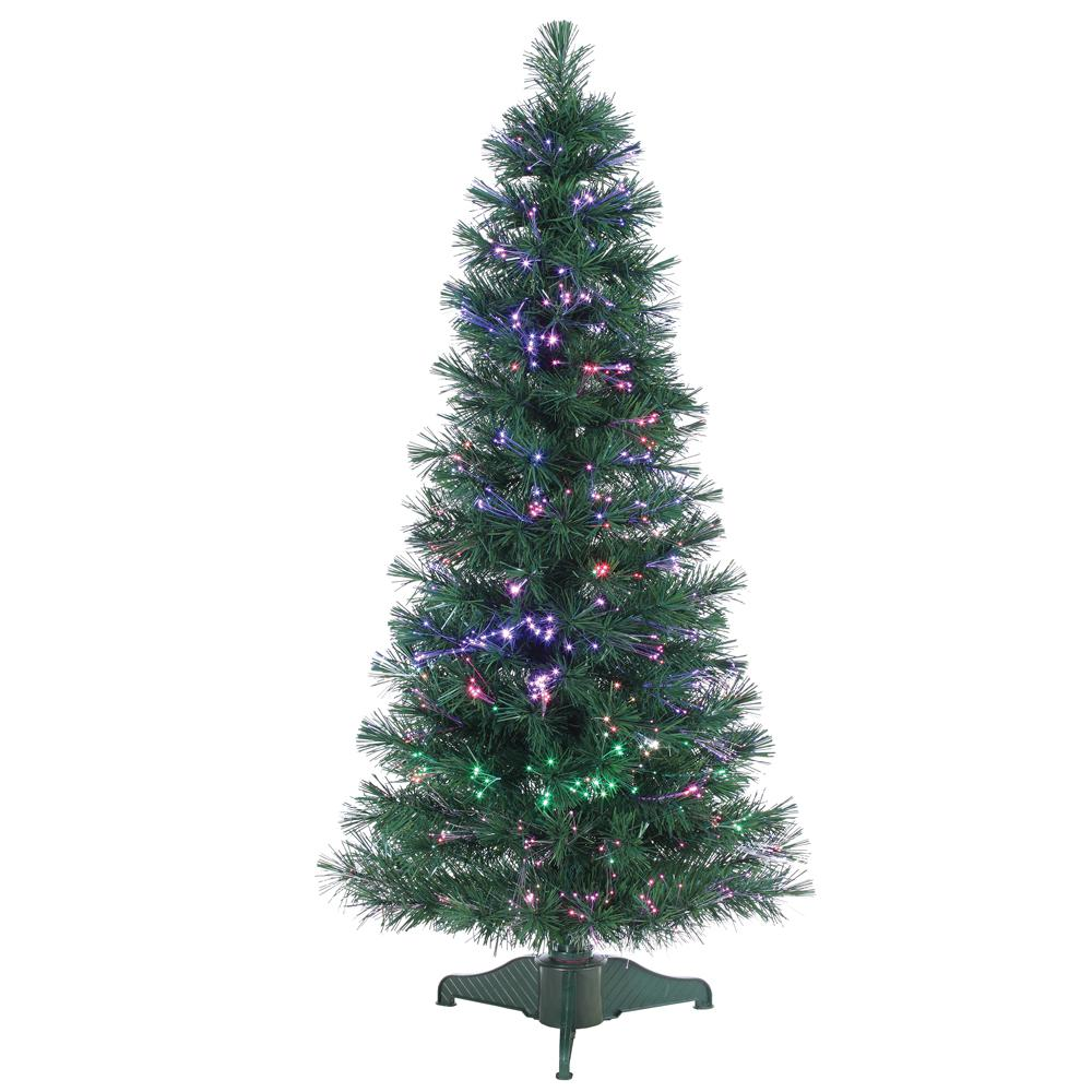 STERLING 4 ft. Pre-Lit Fiber Optic Artificial Christmas Tree with ...