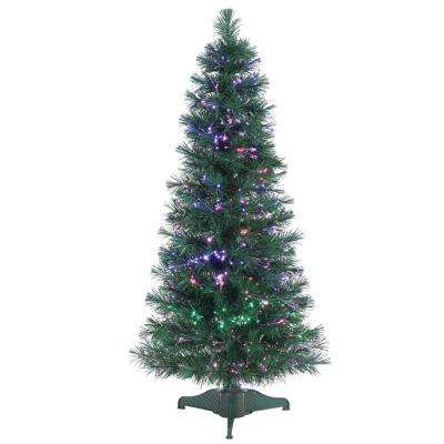 4 ft. Pre-Lit Fiber Optic Artificial Christmas Tree with 166 tips