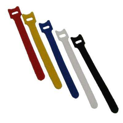 Reusable Self-Gripping Cable Ties, (5-Pieces), Assorted Colors