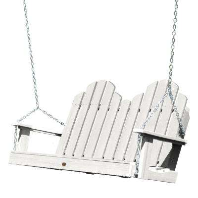 Classic Westport 48 in. 2-Person White Recycled Plastic Porch Swing