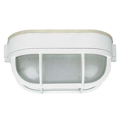 Stapp 1-Light White Outdoor Flush Mount