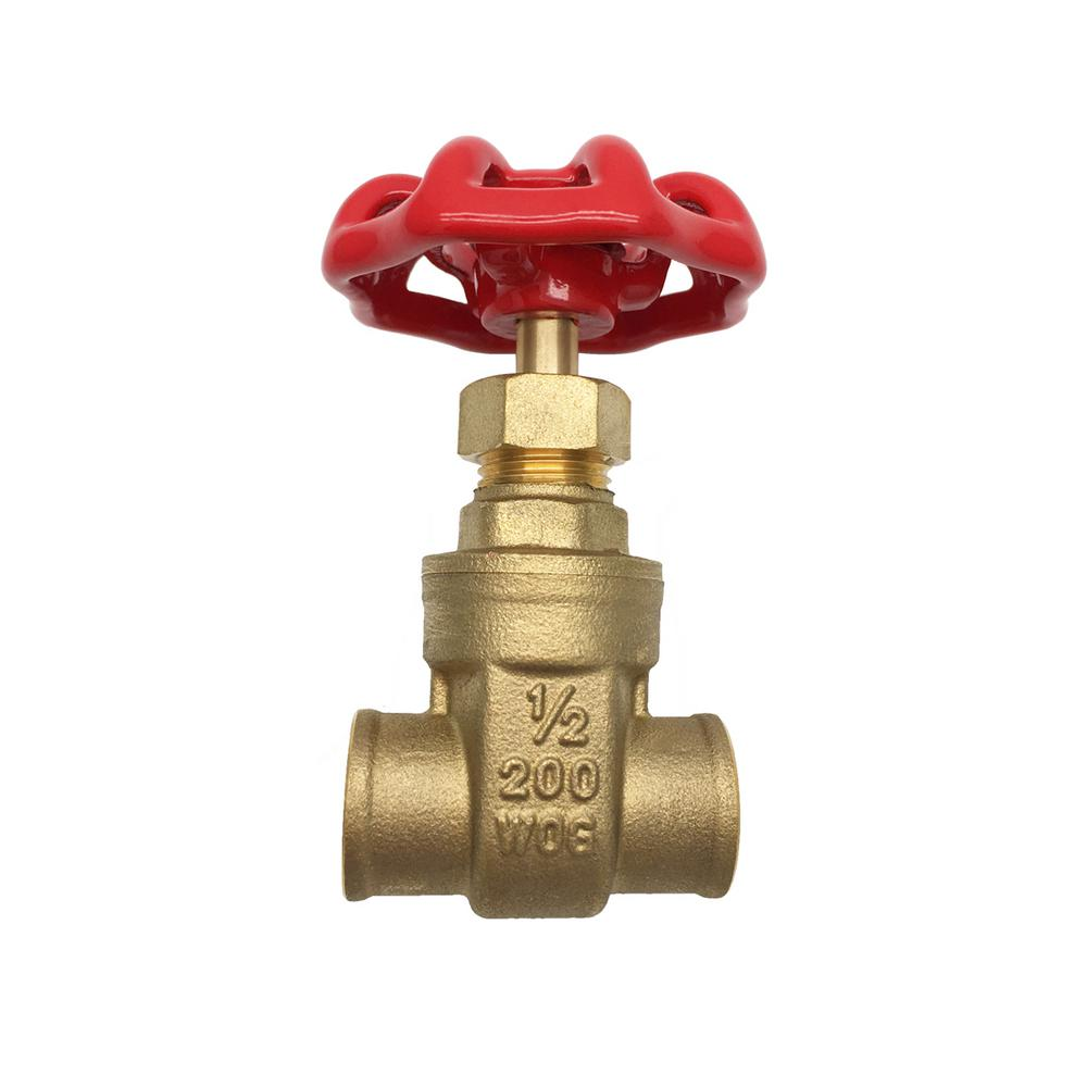 THEWORKS 1/2 in  SWT x SWT Heavy Pattern Brass Gate Valve