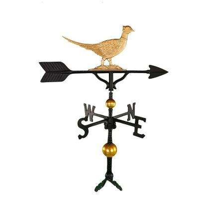 32 in. Deluxe Gold Pheasant Weathervane
