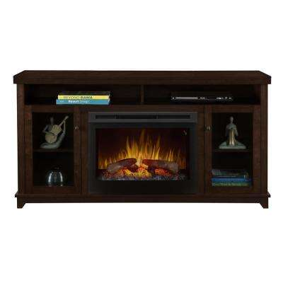 "Dupont 58"" Freestanding Electric Media Console in Kingston Brown"