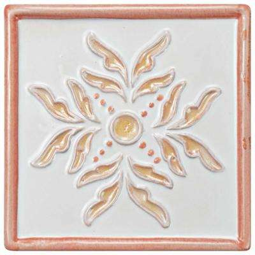 Novecento Taco Evoli Canela 5-1/4 in. x 5-1/4 in. Ceramic Wall Tile