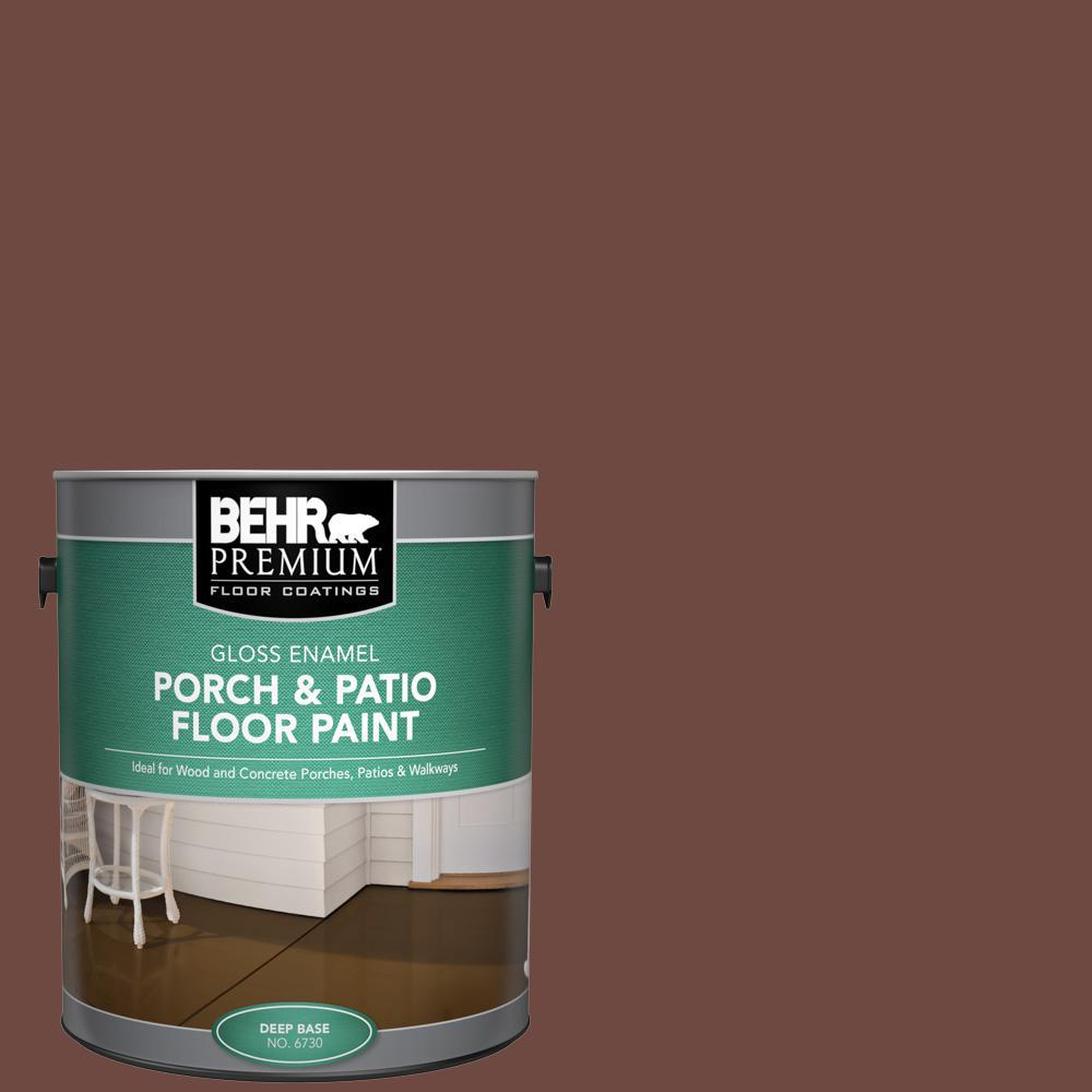 Behr Premium 1 Gal Pmd 108 Double Chocolate Gloss Enamel Interior Exterior Porch And Patio Floor Paint 673001 The Home Depot