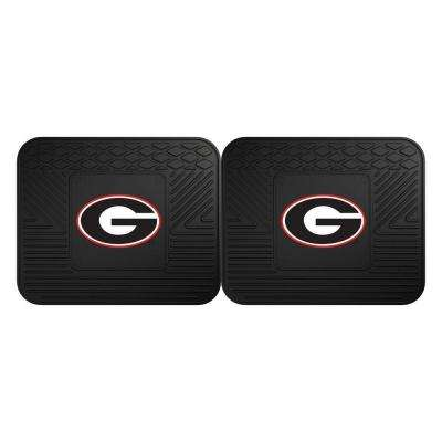 NCAA University of Georgia Black Heavy Duty 2-Piece 14 in. x 17 in. Vinyl Utility Mat