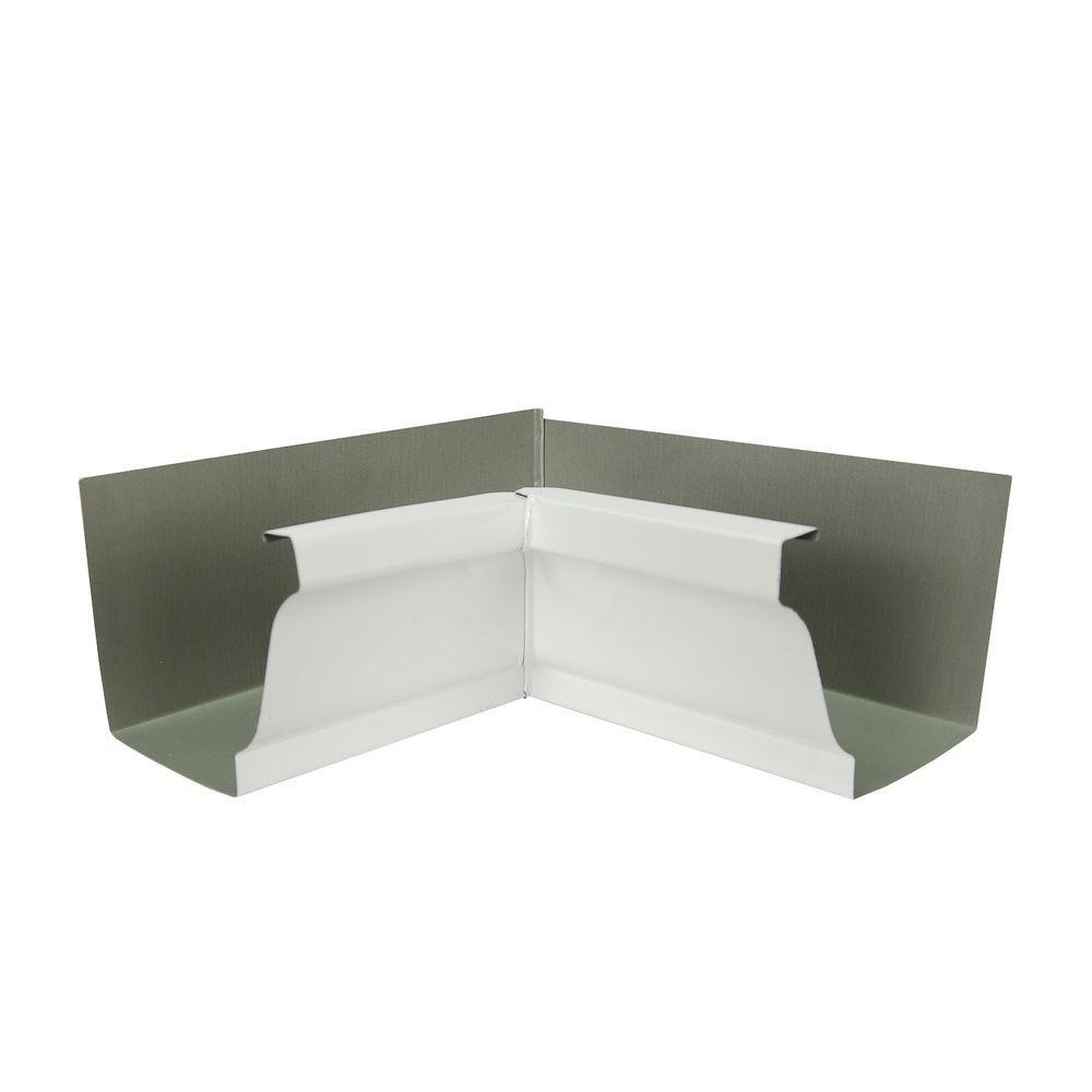 5 in. White Aluminum 80 Degree Inside Miter Box