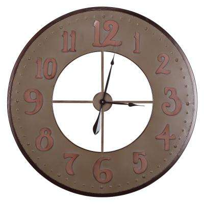 35.5 in. x 35.5 in. Circular Iron Wall Clock