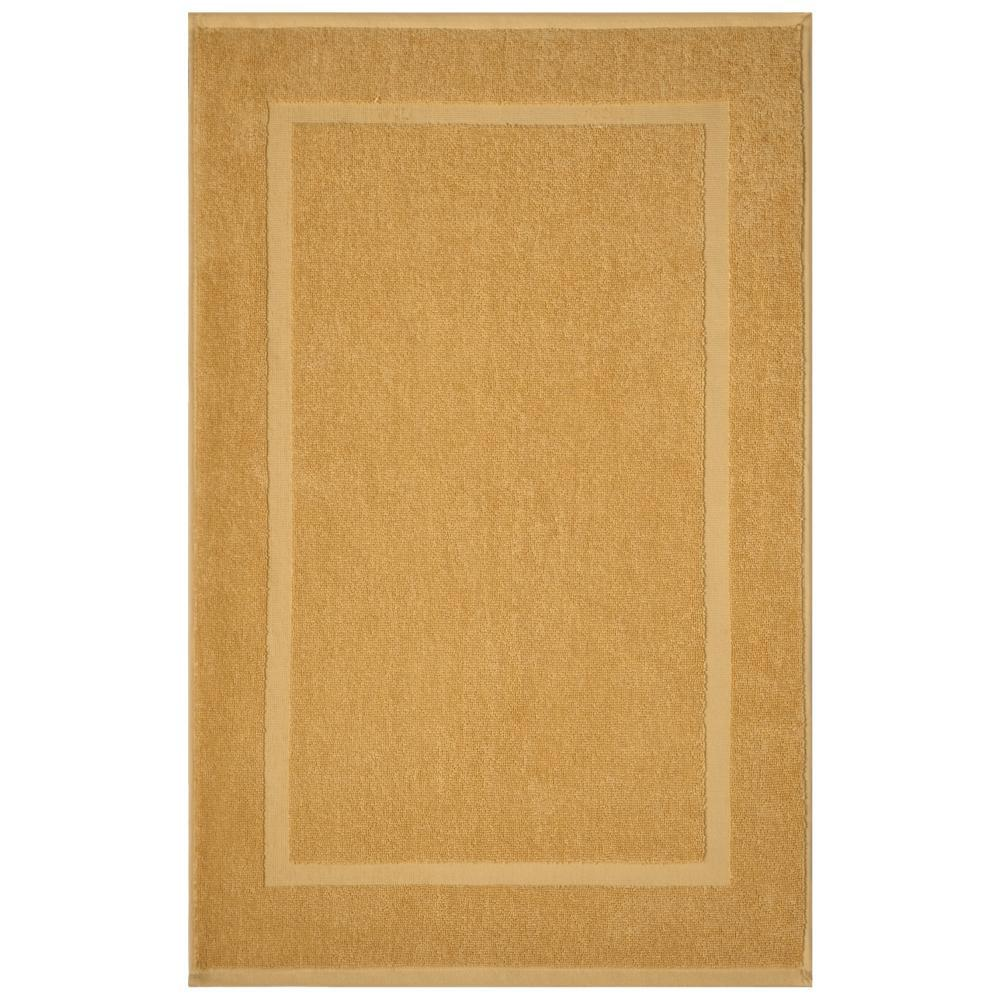 home decorators collection newport gold 20 in x 34 in egyptian cotton bath mat - Cotton Bathroom Mat