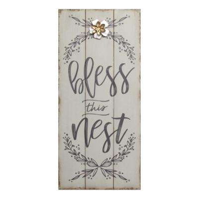 Bless this Nest Rustic Wall Decor