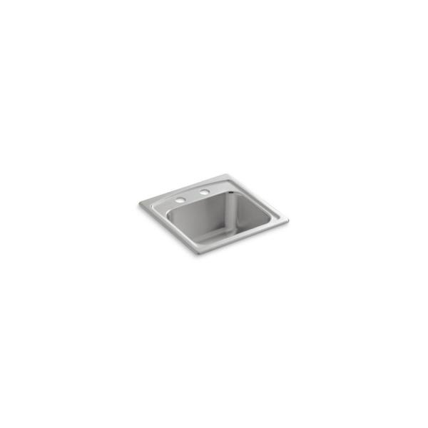 Toccata Drop-In Stainless Steel 15 in. 2-Hole Single Bowl Kitchen Sink