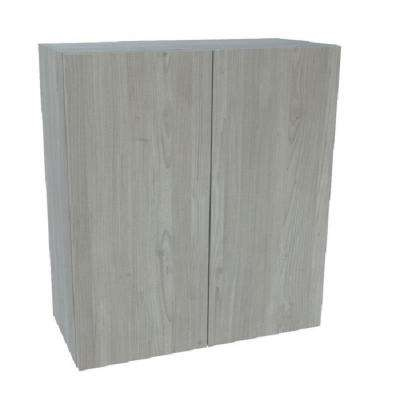 Ready to Assemble 30 in. x 42 in. x 12 in. Wall Cabinet in Grey Nordic Wood