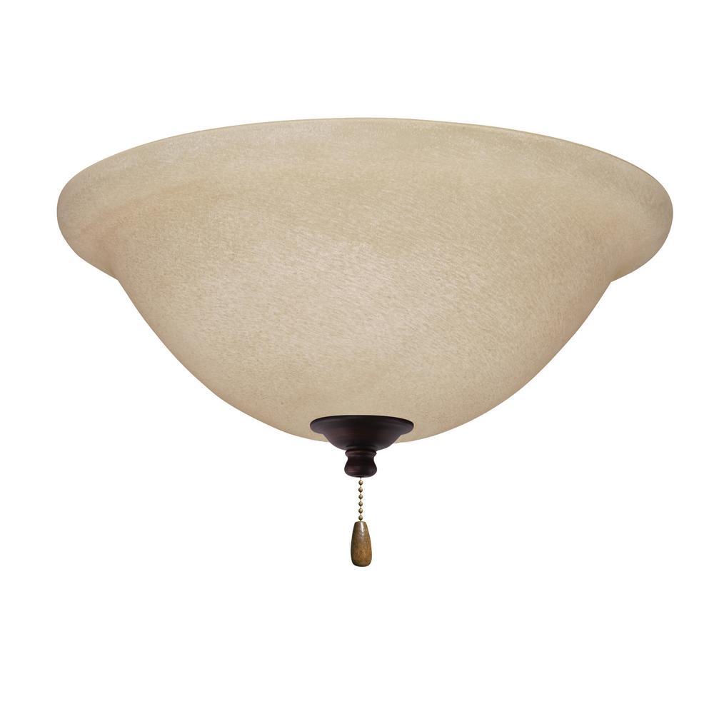 Amber Mist LED Array Venetian Bronze Ceiling Fan Light Kit
