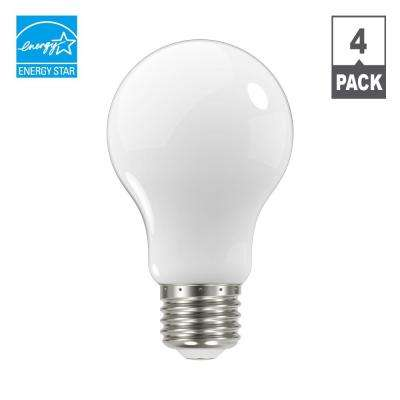 60-Watt Equivalent A19 Dimmable Energy Star Classic Glass LED Light Bulb, Daylight (4-Pack)