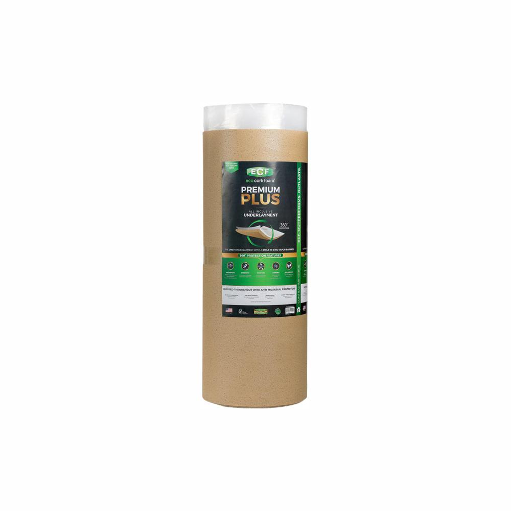 Eco Cork Foam 300 Sq Ft 3 Ft X 100 Ft X 0 126 In Laminate And