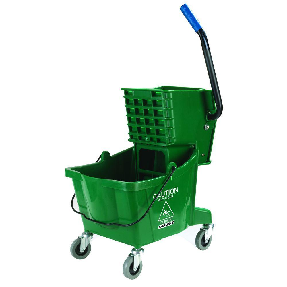 26 qt. Green Mop Bucket/Wringer Combo