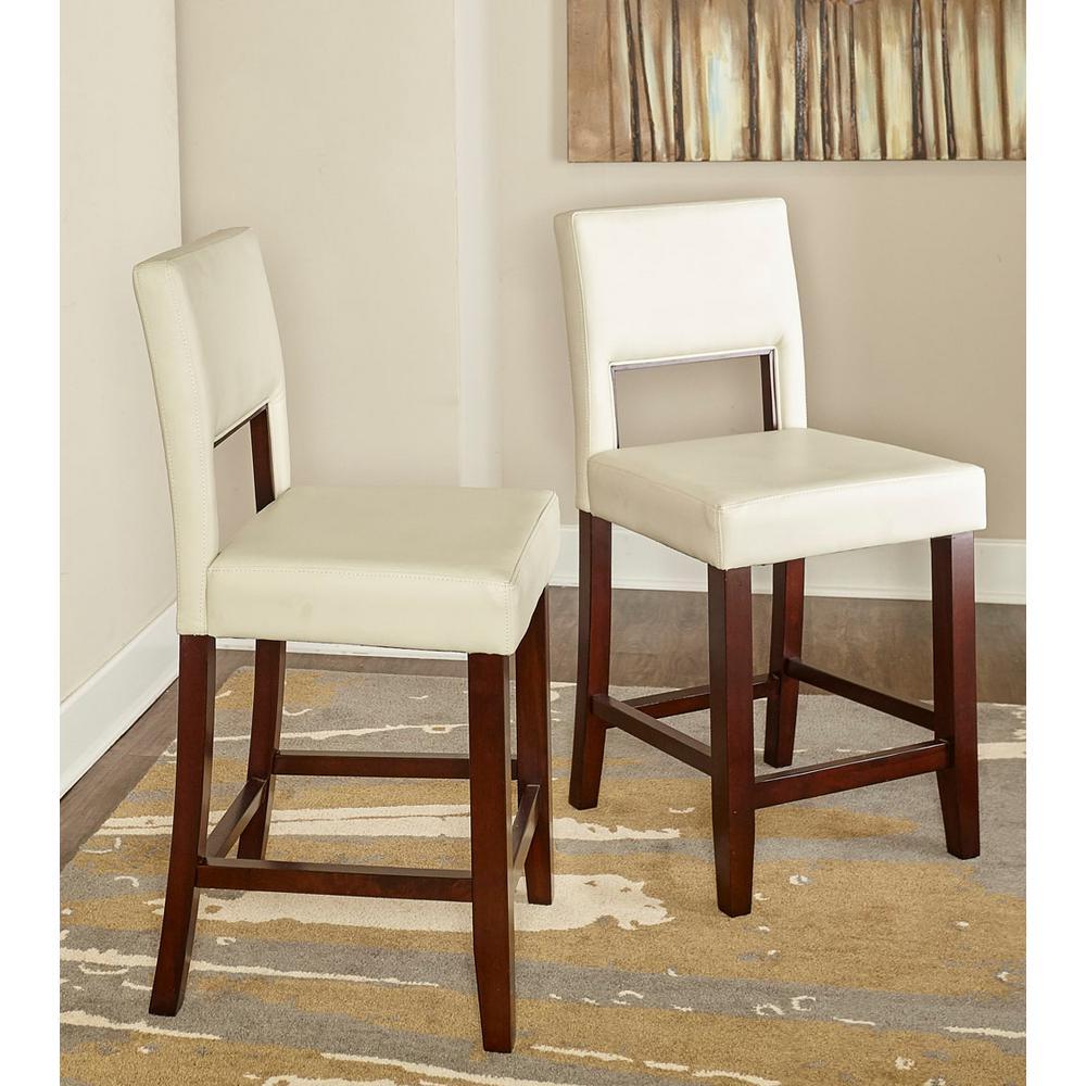 Excellent Linon Home Decor Vega 24 In White Cushioned Counter Stool Frankydiablos Diy Chair Ideas Frankydiabloscom