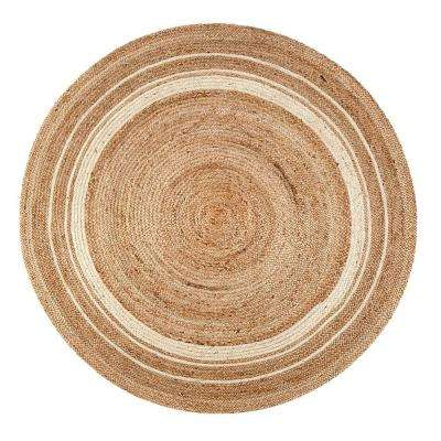 Kerala Sunrise Multi 4 ft. x 4 ft. Round Area Rug