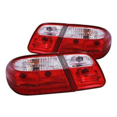 1996-2002 Mercedes Benz E Class W210 Taillights Red/Clear G2