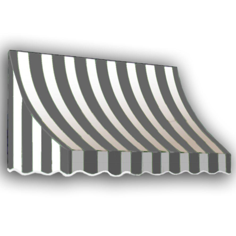 AWNTECH 20 ft. Nantucket Window/Entry Awning (56 in. H x 48 in. D) in Gray/White Stripe