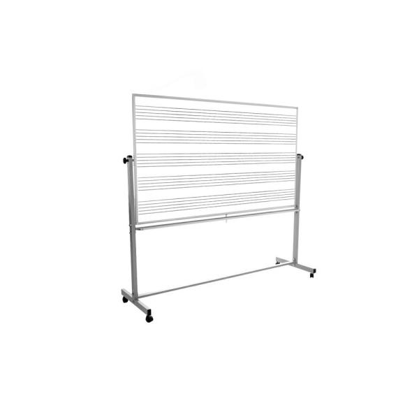 Luxor 72 in. x 48 in. Mobile Music Whiteboard MB7248MW