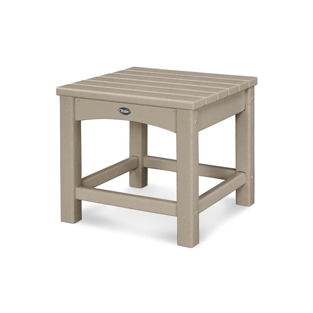 Trex Outdoor Furniture Rockport 18 In Sand Castle Patio Side Table
