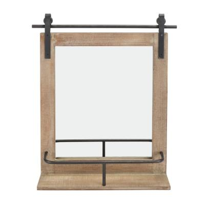 Medium Rectangle Natural Contemporary Mirror (25 in. H x 19.75 in. W)