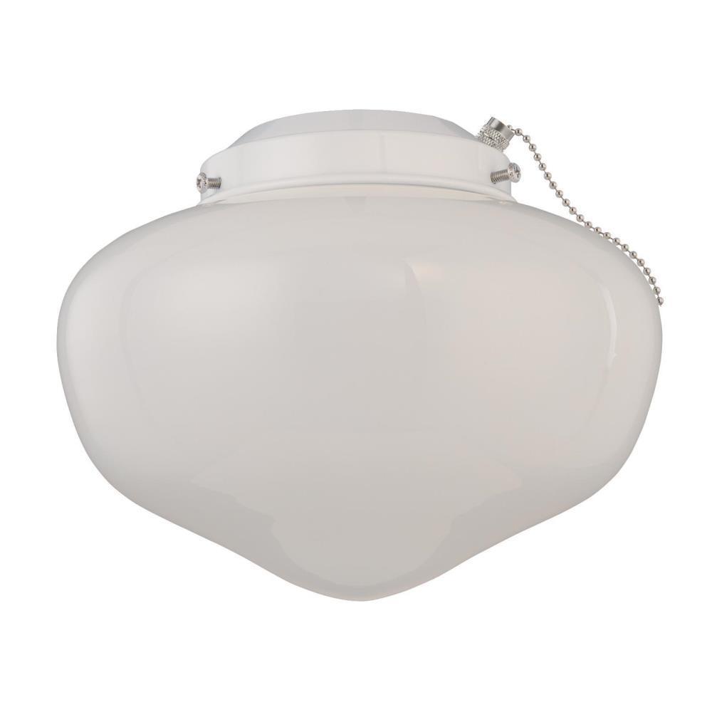 1-Light LED Schoolhouse Ceiling Fan Light Kit