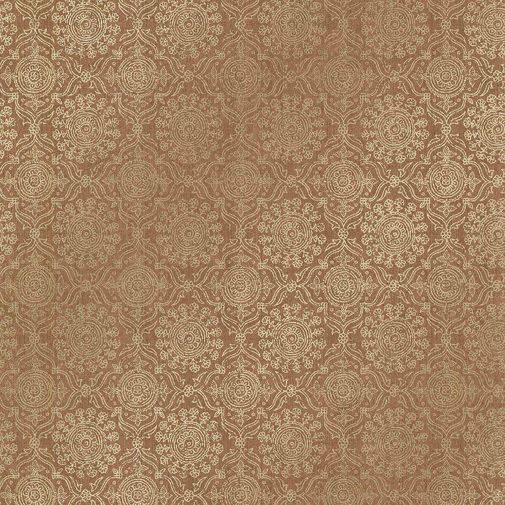 Sultana Copper Lattice Texture Wallpaper