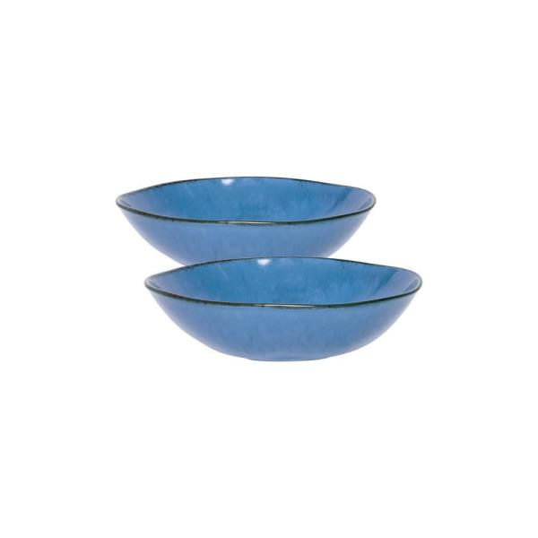 Ryo 54.10 fl. oz. Blue Porcelain Salad Bowl (Set of 2)