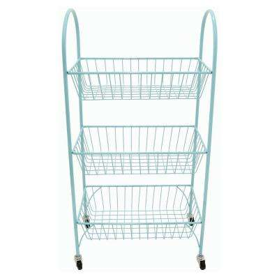 11.75 in. x 20 in. Storage Rack in Blue in Blue