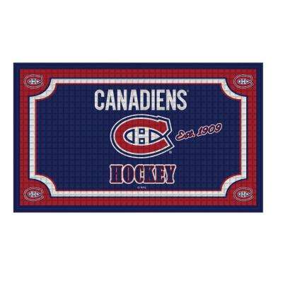 Montreal Canadiens 18 in. x 30 in. Embossed Welcome Mat