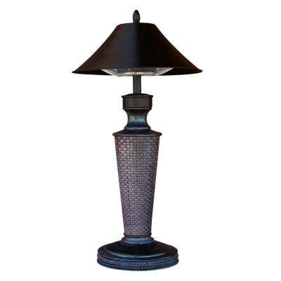 Vacation Day 1,200-Watt Burgundy Tabletop Electric Patio Heater