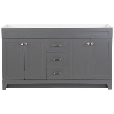 Thornbriar 60 in. W x 21.52 in. D x 34.25 in H Bath Vanity Cabinet Only in Cement