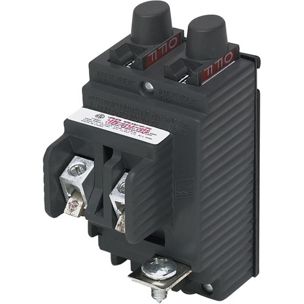 New UBIP Twin 15 Amp/20 Amp 1-Pole Pushmatic Replacement Circuit Breaker